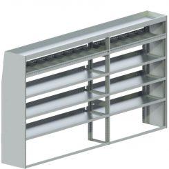 "Cube Shelving Unit, Std. Tray, 18""D x 65""H x 117""L (#360031)"
