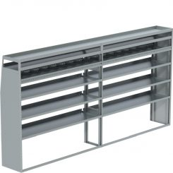 """Sprinter Tapered Shelving Unit, Pipe Tray, 18""""D x 69"""" x 139""""L (#360061)"""