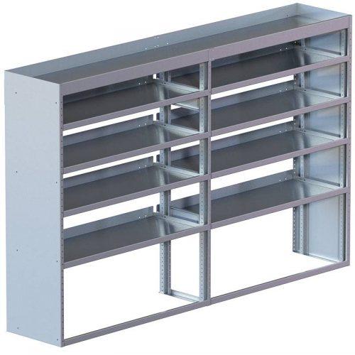 "Cube Shelving Unit, Std. Tray, 18""D x 61""H x 95""L (#360024)"