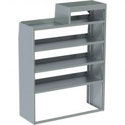 "Sprinter Tapered Shelving Unit, LH Notched, 18""D x 59""H x 48"" L (#360051)"