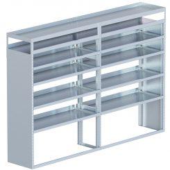 "Cube Shelving Unit, Pipe Tray, 18""D x 70""H x 95""L (#360066)"