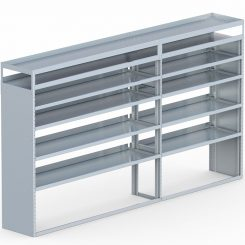 "Cube Shelving Unit, Pipe Tray, 18""D x 70""H x 117""L (#360067)"