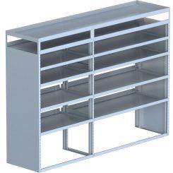 "Cube Shelving Unit, Pipe Tray, 23""D x 66""H x 91""L (#360081)"