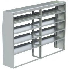 """Transit Tapered Shelving Unit, Pipe Tray, 18""""D x 65""""H x 95""""L (#360182)"""