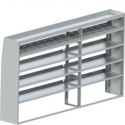 "Sprinter Tapered Shelving Unit, Std. Tray, 18""D x 65""H x 117""L (#360019)"
