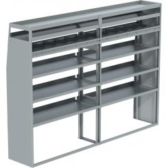 "Sprinter Tapered Shelving Unit, Pipe Tray, 18""D x 69"" x 95""L (#360059)"