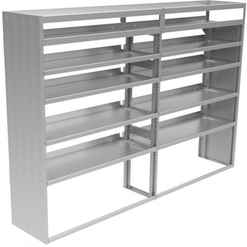 "Cube Shelving Unit, Pipe Tray, 18""D x 66""H x 95""L (#360063)"