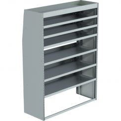 "Sprinter Tapered Shelving Unit, Std. Tray, 18""D x 65""H x 48""L (#360130)"