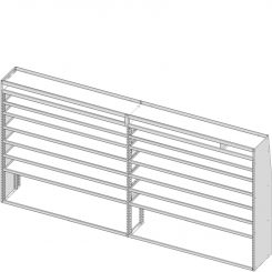 """Sprinter Tapered Shelving Unit, Pipe Tray, 18""""D x 69""""H x 139""""L (#360139)"""