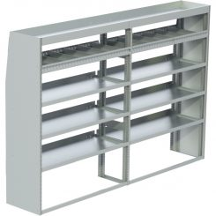 "ProMaster Tapered Shelving Unit, Std. Tray, 18""D x 65""H x 95""L (#360143)"