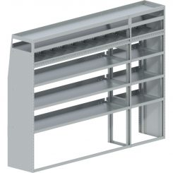 """ProMaster Tapered Shelving Unit, Pipe Tray, 18""""D x 69""""H x 94""""L (#360146)"""