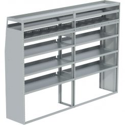 """ProMaster Tapered Shelving Unit, Pipe Tray, 18""""D x 69""""H x 95""""L (#360147)"""