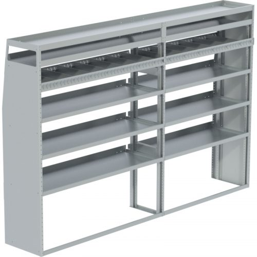 """ProMaster Tapered Shelving Unit, Pipe Tray, 18""""D x 69""""H x 105""""L (#360148)"""