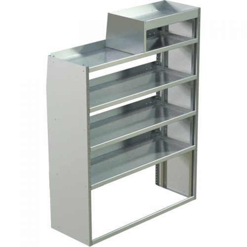 """ProMaster Tapered Shelving Unit, LH Notched, 18""""D x 65""""H x 48""""L (#360151)"""