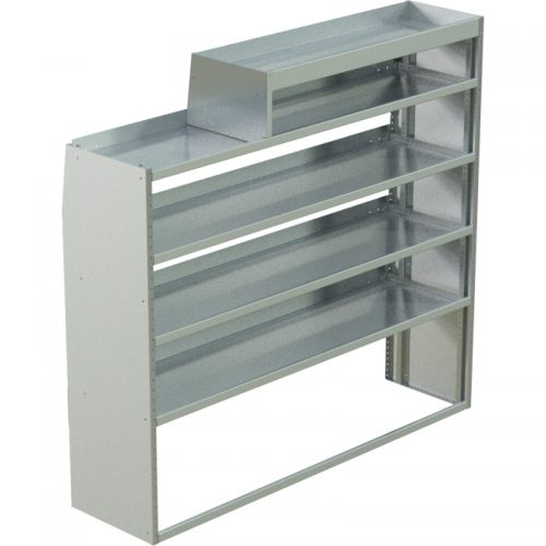 """ProMaster Tapered Shelving Unit, LH Notched, 18""""D x 65""""H x 70""""L (#360152)"""