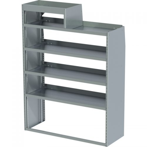 """ProMaster Tapered Shelving Unit, RH Notched, 18""""D x 65""""H x 48""""L (#360153)"""