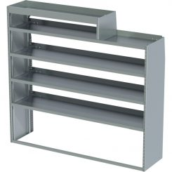 """ProMaster Tapered Shelving Unit, RH Notched, 18""""D x 65""""H x 70""""L (#360154)"""