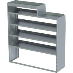 """ProMaster Tapered Shelving Unit, LH Notched, 18""""D x 65""""H x 58""""L (#360156)"""