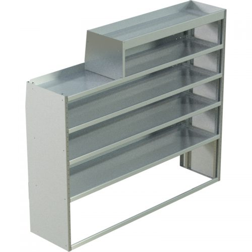"Transit Tapered Shelving Unit, LH Notched, 18""D x 61""H x 70""L (#360214)"