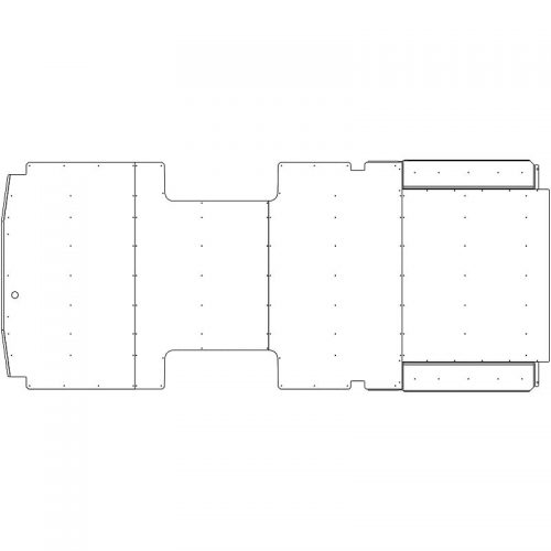 Transit Flooring 148WB Ext. DRW - Double Sliding Door