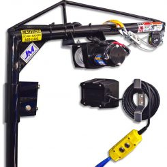 Electric Hoist Kit - Ford Transit - High/Mid Roof - Passenger Side Door B-Pillar Mount