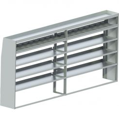 "Sprinter Tapered Shelving Unit, Std. Tray, 18""D x 65""H x 139""L (#360020)"