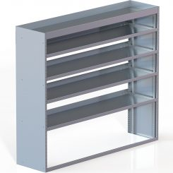 "Cube Shelving Unit, Std. Tray, 18""D x 61""H x 70""L (#360022)"