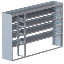 "Cube Shelving Unit, Std. Tray, 18""D x 61""H x 94""L (#360023)"