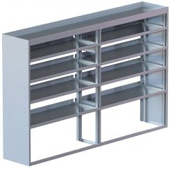 "Cube Shelving Unit, Std. Tray, 18""D x 61""H x 95""L (#360024)"