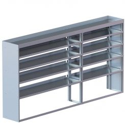 "Cube Shelving Unit, Std. Tray, 18""D x 61""H x 117""L (#360025)"