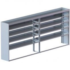 "Cube Shelving Unit, Std. Tray, 18""D x 61""H x 139""L (#360026)"