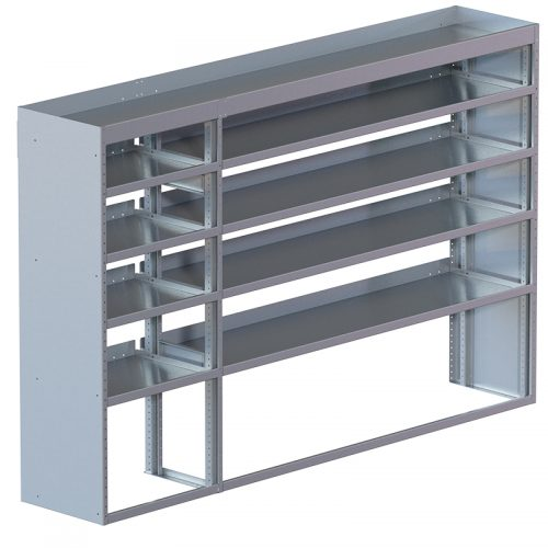 "Cube Shelving Unit, Std. Tray, 18""D x 65""H x 70""L (#360028)"