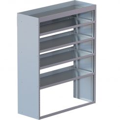 "Cube Shelving Unit, Std. Tray, 18""D x 65""H x 94""L (#360029)"