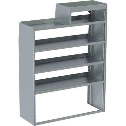 "Sprinter Tapered Shelving Unit, LH Notched, 18""D x 65""H x 48""L (#360049)"
