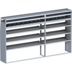 "Sprinter Tapered Shelving Unit, Pipe Tray, 18""D x 69"" x 117""L (#360060)"
