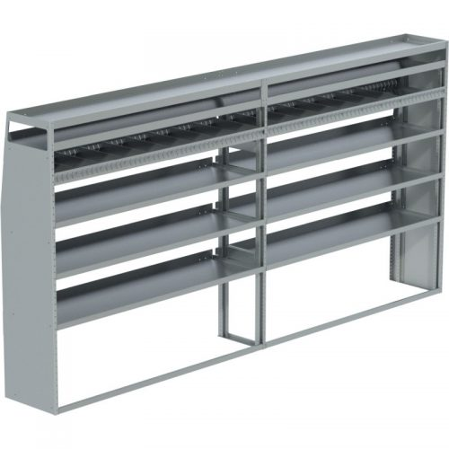 """Sprinter Tapered Shelving Unit, Pipe Tray, 18""""D x 71""""H x 117""""L (#360062)"""