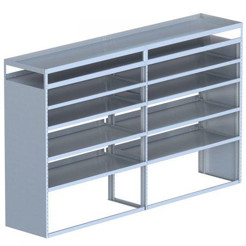 "Cube Shelving Unit, Pipe Tray, 23""D x 66""H x 108""L (#360082)"