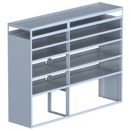 "Cube Shelving Unit, Pipe Tray, 23""D x 70"" x 91""L (#360084)"