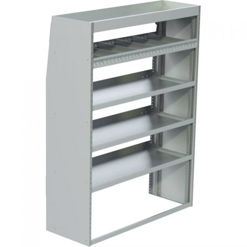 "ProMaster Tapered Shelving Unit, Std. Tray, 16""D x 65""H x 58""L (#360141-16)"