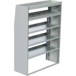 "ProMaster Tapered Shelving Unit, Std. Tray, 18""D x 65""H x 58""L (#360141)"