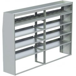"ProMaster Tapered Shelving Unit, Std. Tray, 18""D x 57""H x 95""L (#360201)"