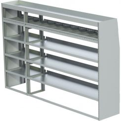 "ProMaster Tapered Shelving Unit, Pipe Tray, 18""D x 61""H x 94""L (#360203)"