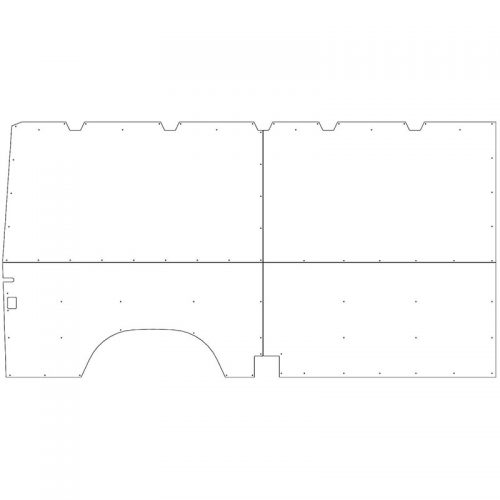 Sprinter Interior Wall Panels LR 144WB Driver-side