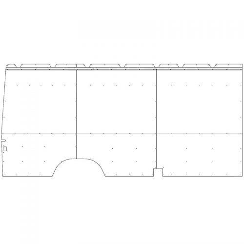 Sprinter Interior Wall Panels HR 170WB Std. Driver-side