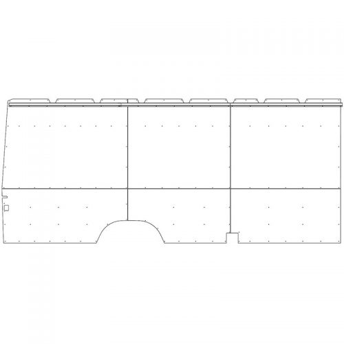 Sprinter Interior Wall Panels HR 170WB Ext. Driver-side