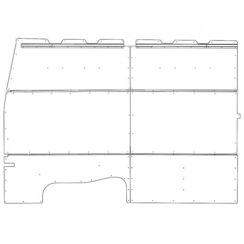 Nissan NV Interior Wall Panels HR Driver-side