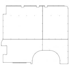 ProMaster Interior Wall Panels HR 159WB Std. Passenger-side