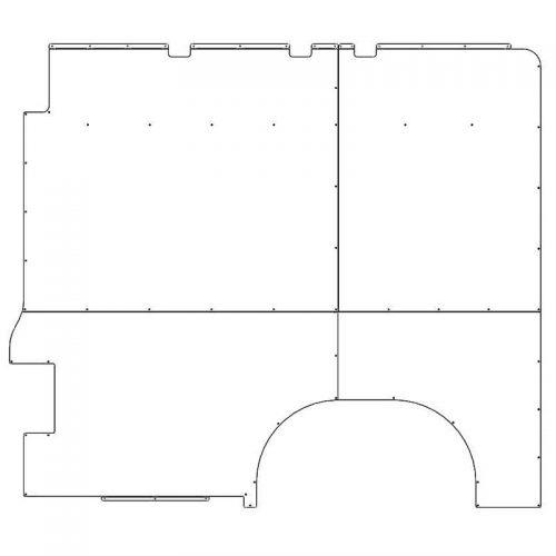 ProMaster Interior Wall Panels HR 159WB Std. Passenger-side
