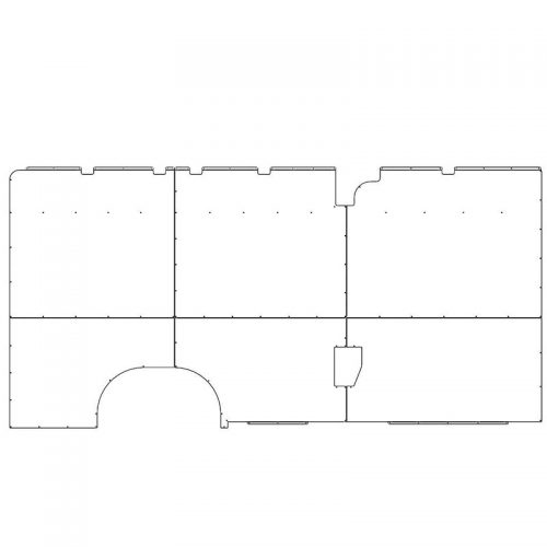 ProMaster Interior Wall Panels HR 159WB Ext. Driver-side