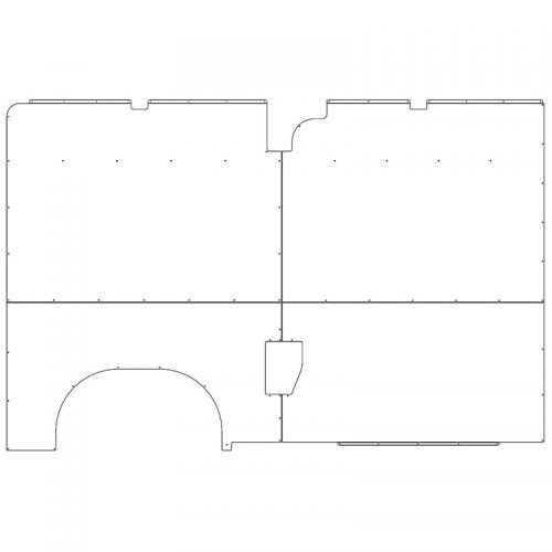 ProMaster Interior Wall Panels HR 136WB Driver-side